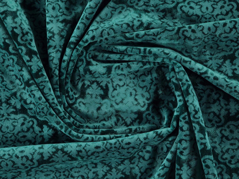 Matt velvet fabric with graphic pattern INCAS by More Fabrics