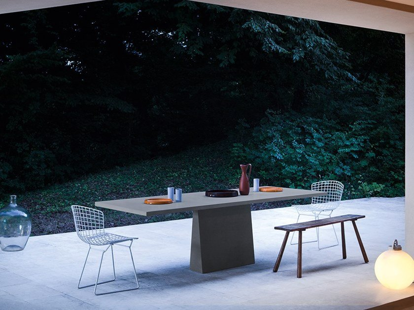 Rectangular stone table INCAS | Rectangular table by Agapecasa