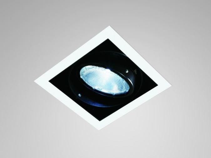 Foco de techo encastrable ajustable de metal revestido INCAS SPOT | Foco de techo cuadrado by LUCIFERO'S