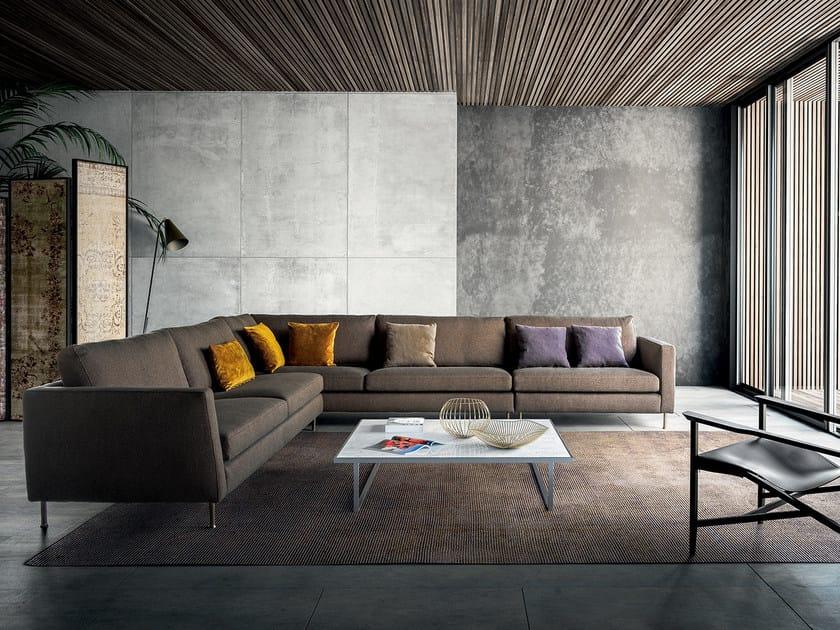 Corner fabric sofa INCONTRO | Corner sofa by PIANCA