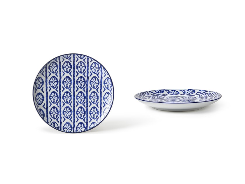 Porcelain dessert plate INDACO FL. 002 | Dessert plate by Fill
