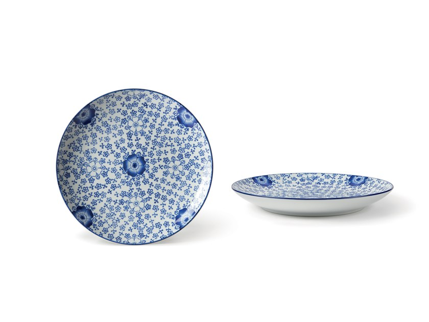 Porcelain dinner plate INDACO FL. 004 | Dinner plate by Fill
