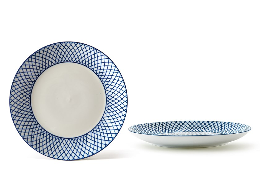 Porcelain dinner plate INDACO FL. 010 | Dinner plate by Fill