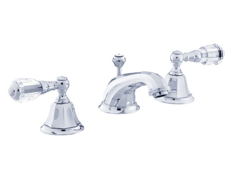 3 hole washbasin tap with Swarovski® crystals INDICA | 3 hole washbasin tap by Bronces Mestre
