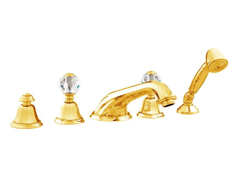 5 hole bathtub set with Swarovski® crystals INDICA   Bathtub set with Swarovski® crystals by Bronces Mestre