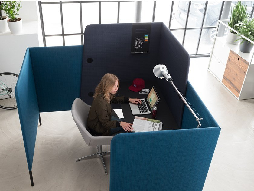 Individual office workstation for open space M.ZONE | Individual office workstation by Wiesner-Hager
