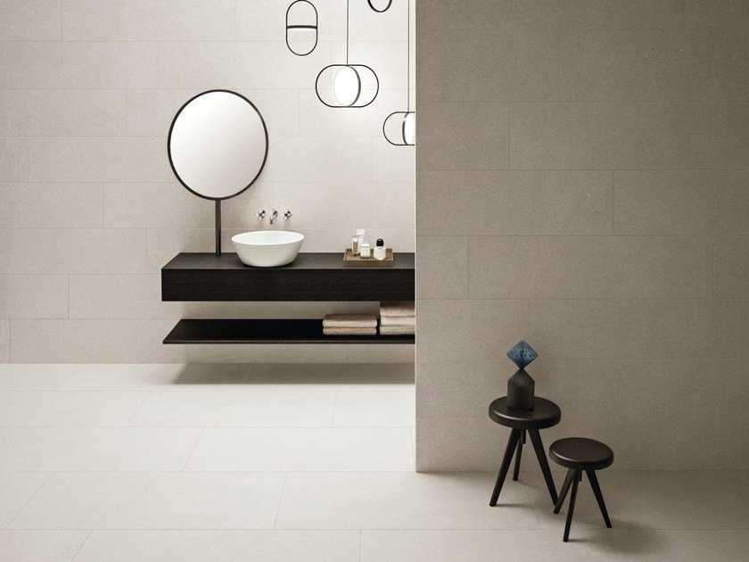 Indoor wall/floor tiles with concrete effect PULSE PEARL by CERAMICHE KEOPE