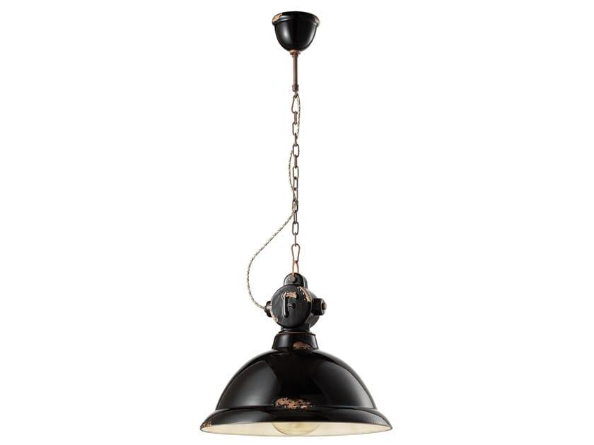 Lampada a sospensione in ceramica in stile industriale INDUSTRIAL | Lampada a sospensione in materiali ceramici by FERROLUCE