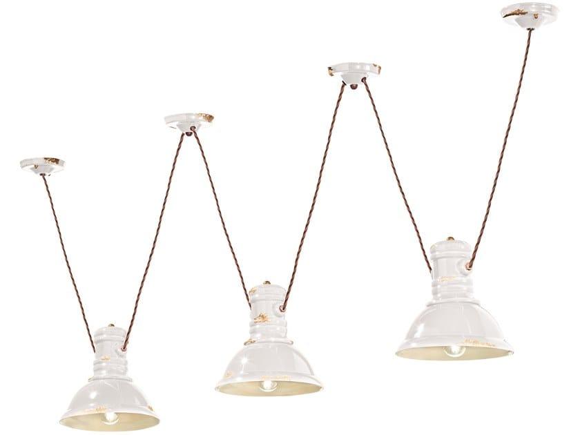 Ceramic chandelier INDUSTRIAL | Chandelier by FERROLUCE
