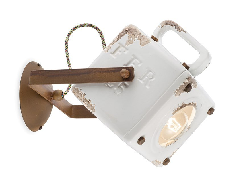 Applique orientabile in ceramica INDUSTRIAL | Lampada da parete by FERROLUCE