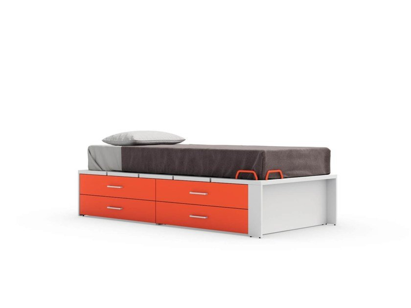 Equipped bed INDY by Nidi