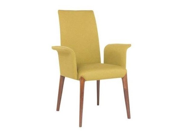 Upholstered fabric chair with armrests INES PO01A by New Life