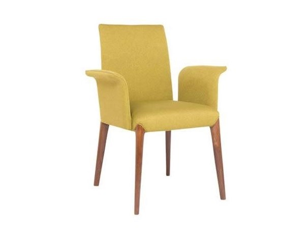 Upholstered fabric chair with armrests INES PO01B by New Life
