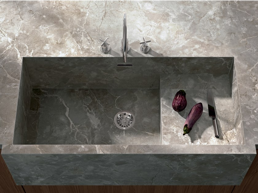 Porcelain stoneware kitchen worktop with marble effect INFINITO 2.0 FIOR DI BOSCO by CERAMICA FONDOVALLE