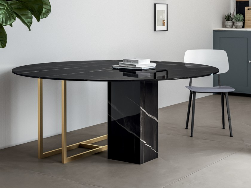 Porcelain stoneware Table Top INFINITO 2.0 SAHARA NOIR | Table Top by CERAMICA FONDOVALLE