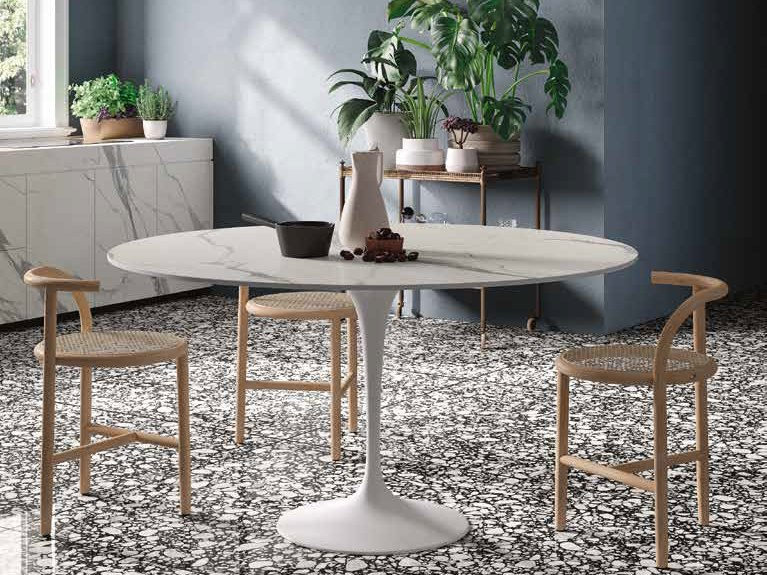 Porcelain stoneware Table Top INFINITO 2.0 STATUARIO EXTRA | Table Top by CERAMICA FONDOVALLE