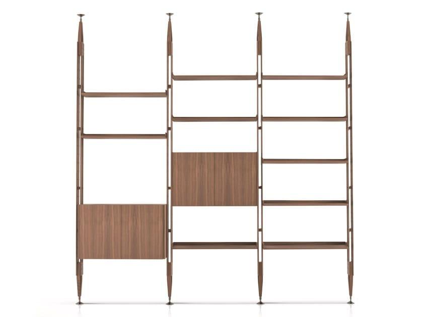 Libreria in legno con fissaggio pavimento-soffitto 835 INFINITO by Cassina