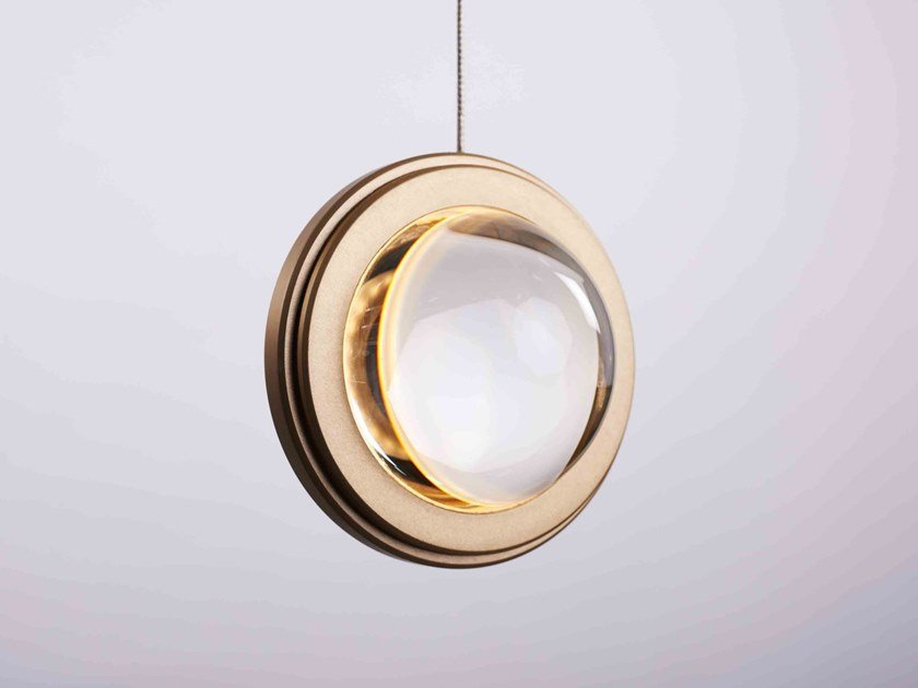 LED glass and aluminium pendant lamp INFINITY MODERN PENDANT by Karice