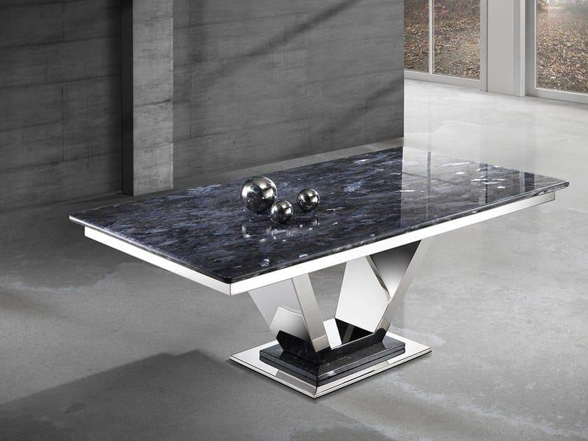 Rectangular Crystal Stone® coffee table INFINITY | Rectangular coffee table by Crystal Stone