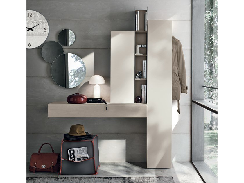 Sectional wall-mounted hallway unit INGRESSI by Gruppo Tomasella