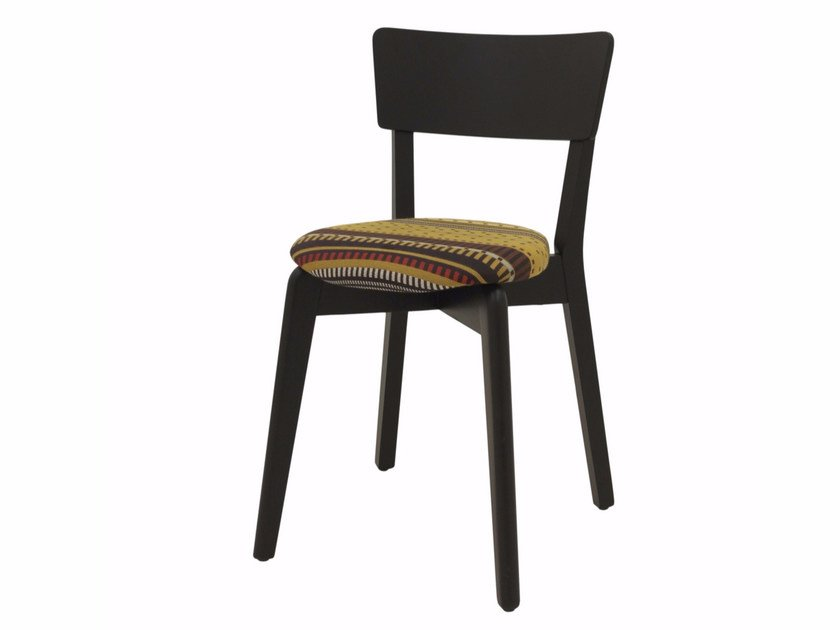 Upholstered stackable fabric chair INGRID 03 ST by Z-Editions