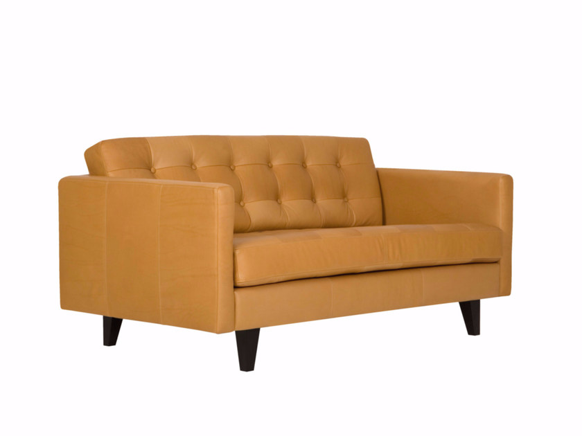 Tufted upholstered 2 seater leather sofa INGRID | 2 seater sofa by SITS