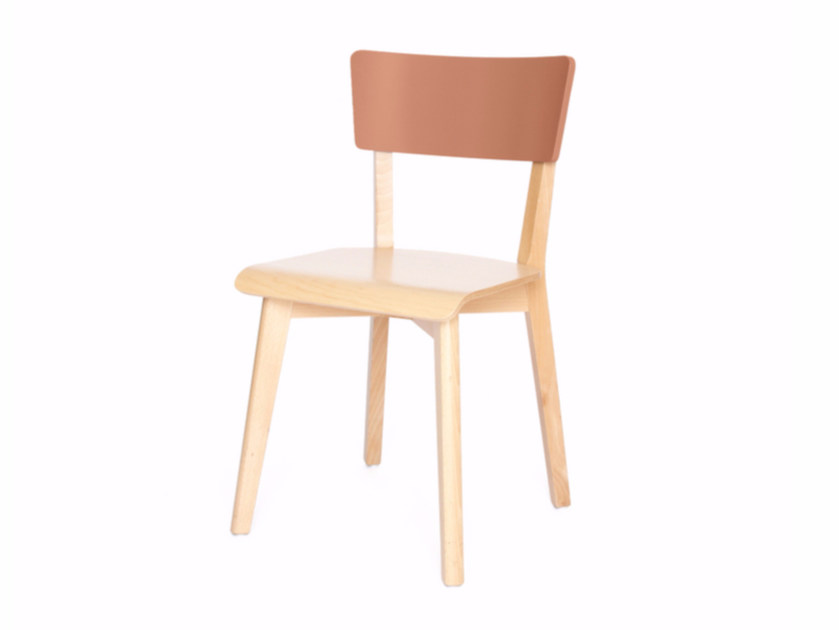 Lacquered wooden chair INGRID by Z-Editions