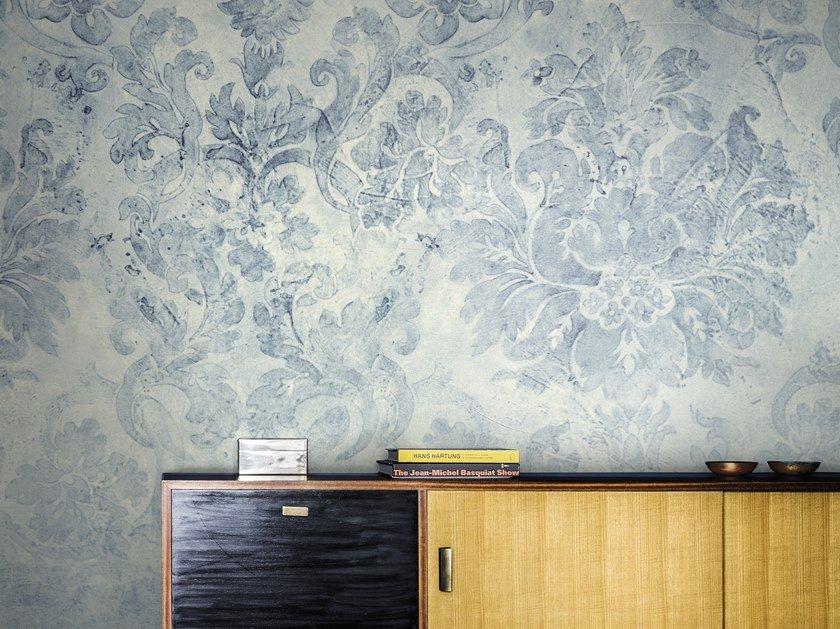 Panoramic wallpaper with floral pattern INLAY 2018 by Inkiostro Bianco