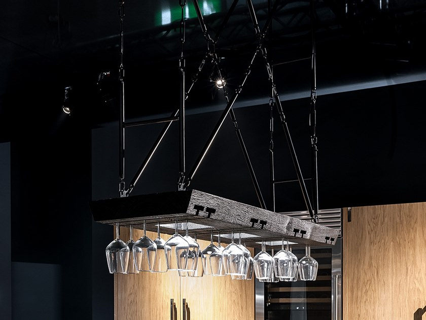 Direct light oak pendant lamp INMOSTRA by Riva 1920
