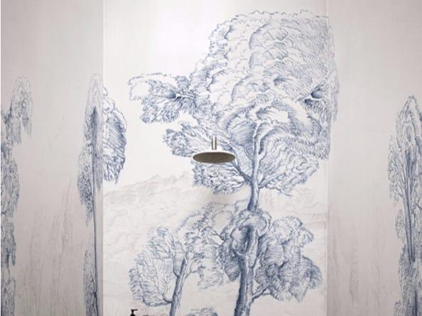 Waterproof landscape glass-fibre wallpaper INNER FOREST by Wall&decò