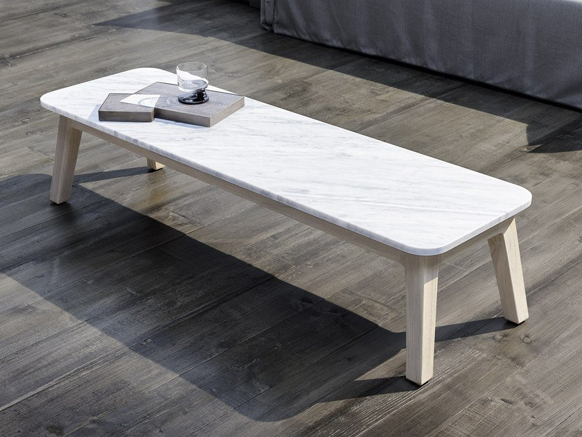 Table Basse De Jardin Rectangulaire En Marbre De Carrara Inout 867 Table Basse En Marbre Collection Inout By Gervasoni