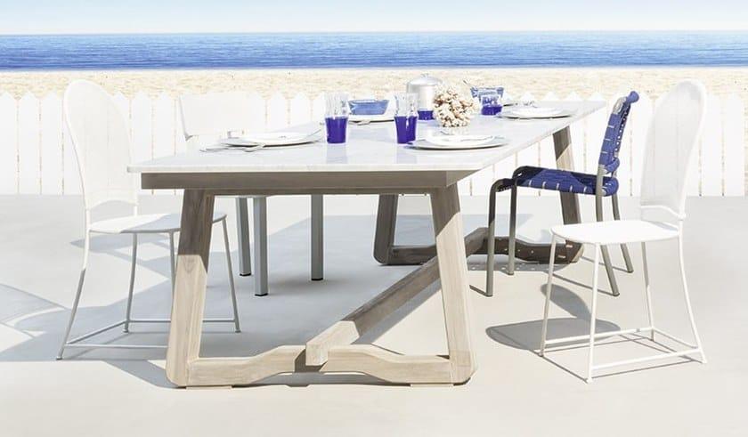 Tavoli Di Marmo Da Giardino : Tavolo da giardino rettangolare in marmo di carrara inout 871