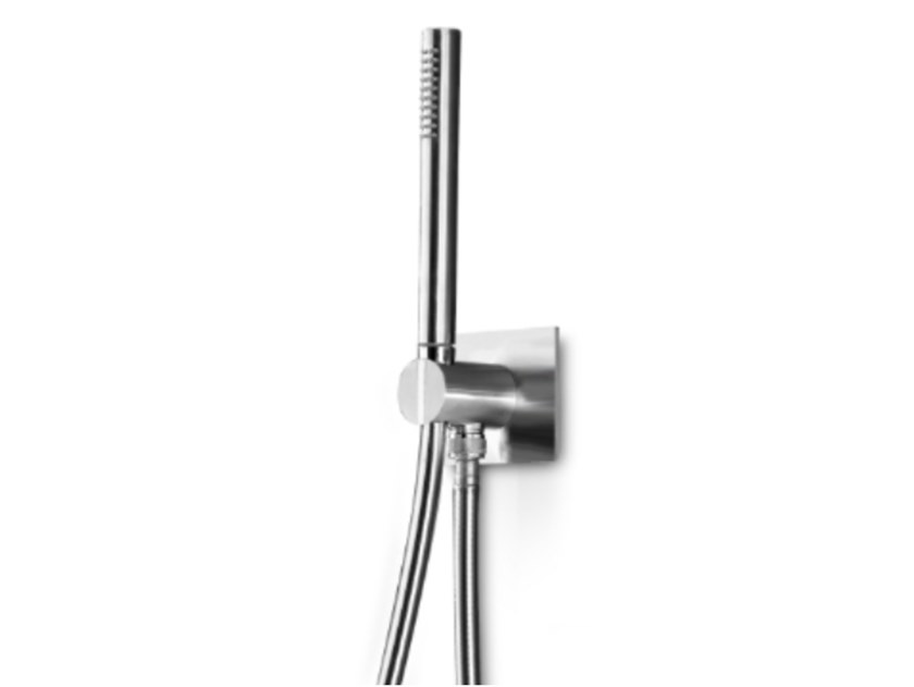 Wall-mounted stainless steel handshower with hose INSERT 205 by Linki
