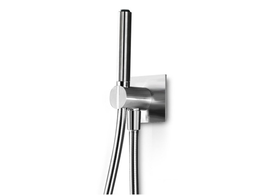 Wall-mounted stainless steel handshower with hose INSERT 206 by Linki