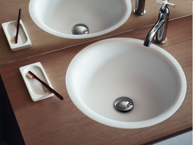 Inset round washbasin IN-OUT | Inset washbasin by Agape