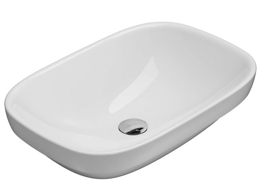Lavabo da incasso soprapiano rettangolare in ceramica GENESIS | Lavabo da incasso soprapiano by Ceramica Globo