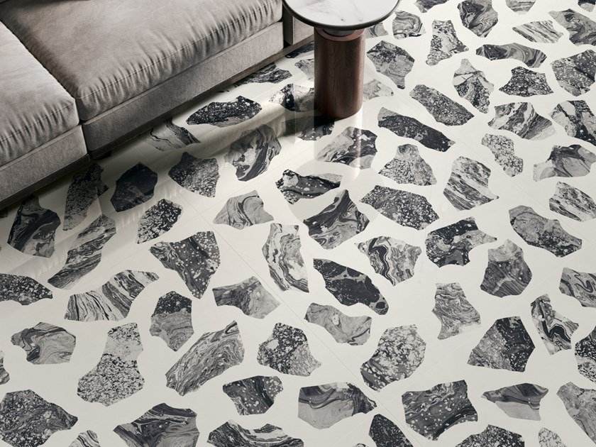 Porcelain stoneware wall/floor tiles terrazzo effect INSIDEART PALLADIAN MOON by CERAMICA SANT'AGOSTINO