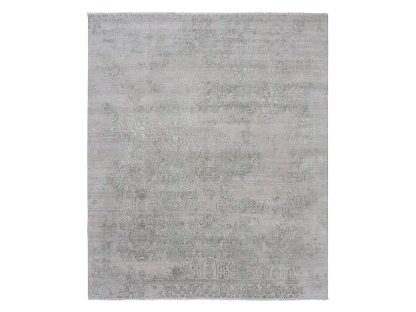 Handmade custom rug INSPIRATIONS LT-GREY LT-TEAL by Thibault Van Renne