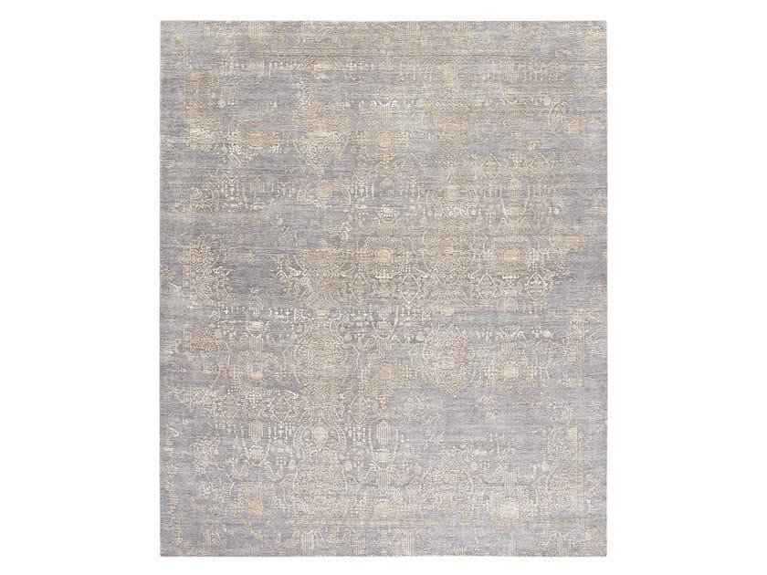 Handmade custom rug INSPIRATIONS T3 MID GREY GOLD by Thibault Van Renne