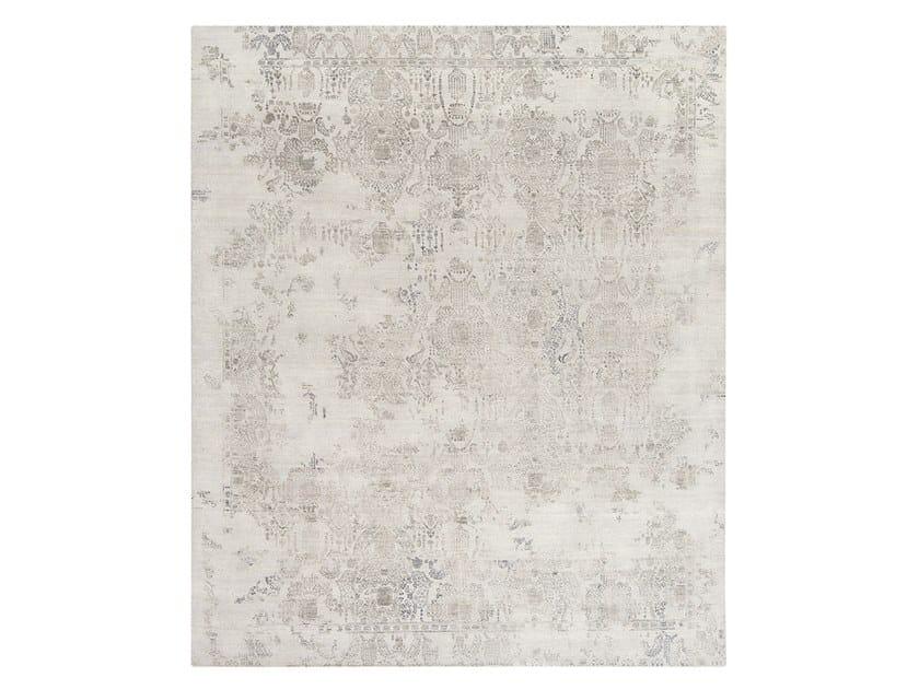 Handmade custom rug INSPIRATIONS T3 PLATINUM GREYS by Thibault Van Renne
