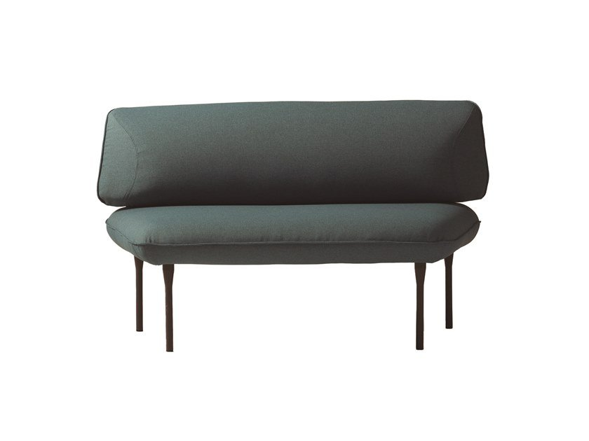 Upholstered fabric bench seating with back INSULA 450B by Capdell