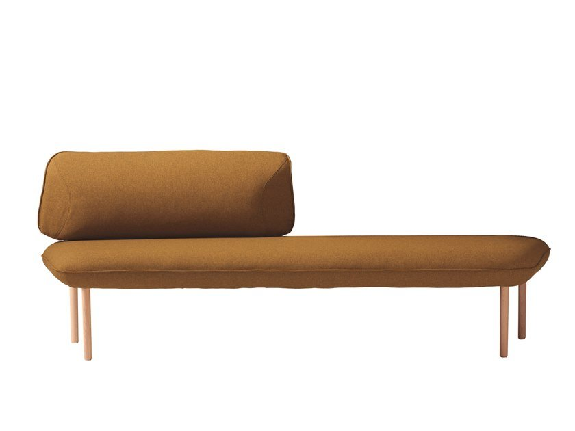 Upholstered fabric bench seating with back INSULA 451AX by Capdell