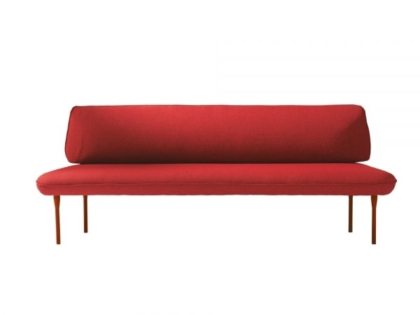 Upholstered fabric bench seating with back INSULA 451C by Capdell