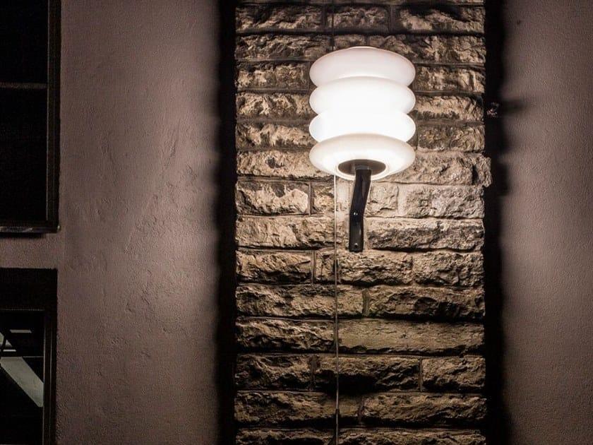 Polyethylene outdoor wall lamp INSULATOR by Väliala