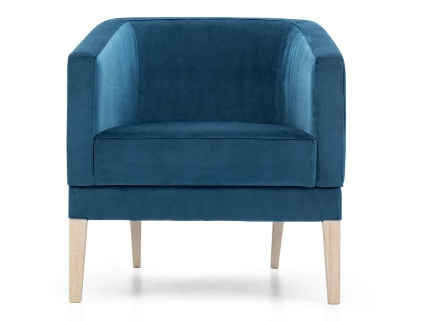 Fabric armchair with armrests INTAMO S by Extraform