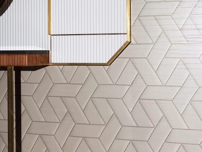 Geometric fire retardant washable wallpaper INTARSIATO WALLCOVERING by Dedar