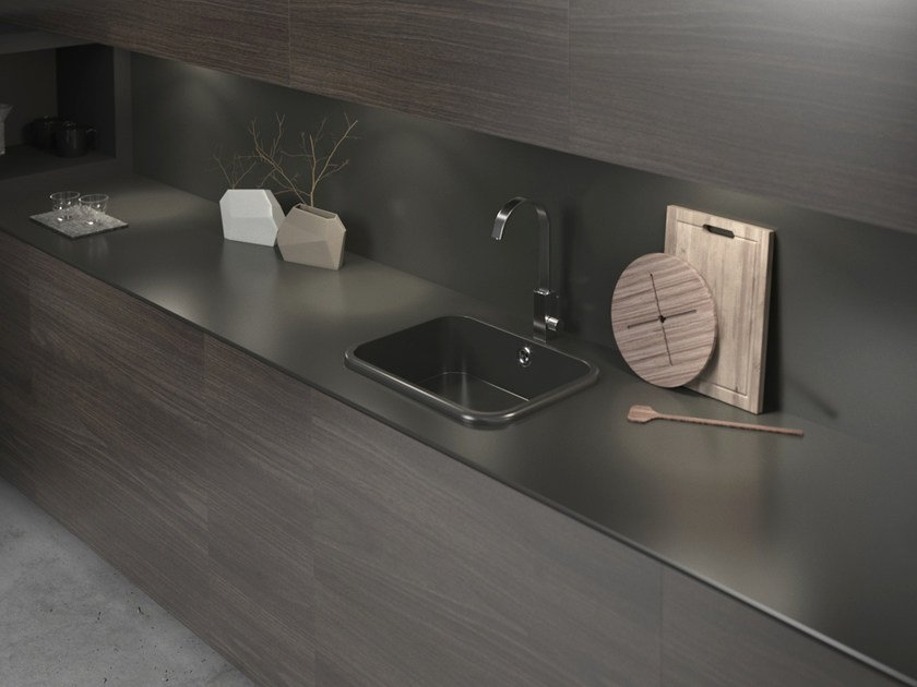 Silestone® kitchen worktop / sink INTEGRITY TOP by Cosentino