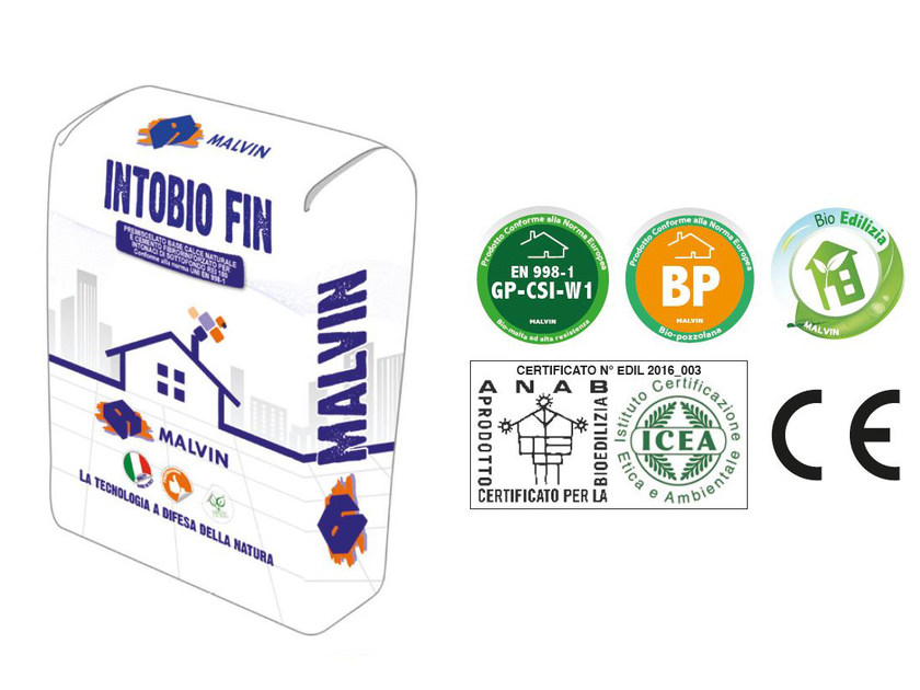 Natural plaster for sustainable building INTOBIO FIN by malvin