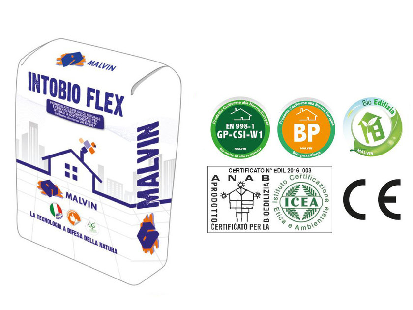 Natural plaster for sustainable building INTOBIO FLEX by malvin