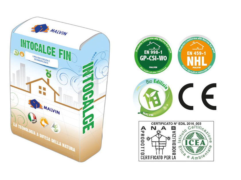 Natural plaster for sustainable building INTOCALCE FIN by malvin